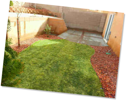Sod installation, concete patio by Rising Sun Landscaping & Maintenance