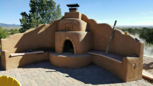 Kiva and bancos by Rising Sun Landscaping & Maintenance