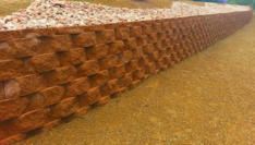 Retaining wall by Rising Sun Landscaping & Maintenance