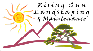 Logo, Rising Sun Landscaping & Maintenance