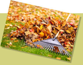 Well maintained commercial properties such as leaf raking and lawn mowing are important for businesses.
